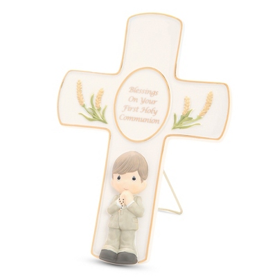 Precious Moments Boy Holy Communion Cross