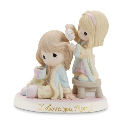 "Precious Moments Girl ""World's Best Mom"" Figurine - UPC 825008095069"