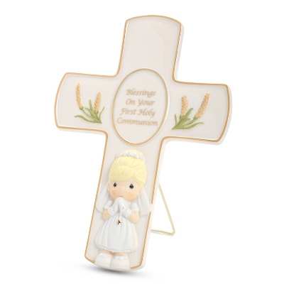 Precious Moments Girl Holy Communion Cross