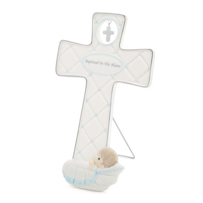 Precious Moments Boy Baptism Cross