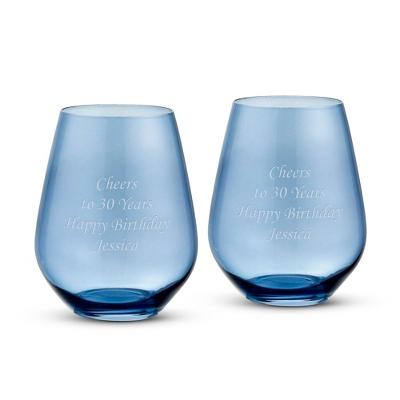 Vera Wang Wedgwood Vera Hue Indigo Stemless White Wine - UPC 825008095274