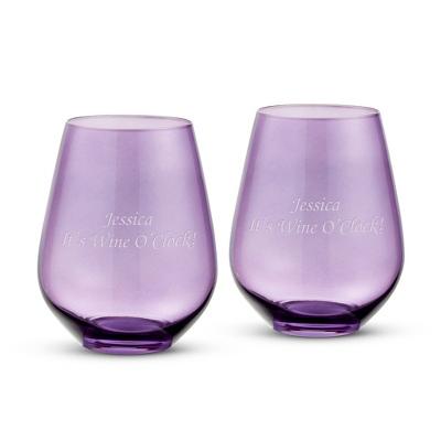 Vera Wang Wedgwood Vera Hue Lavender Stemless White - UPC 825008095298