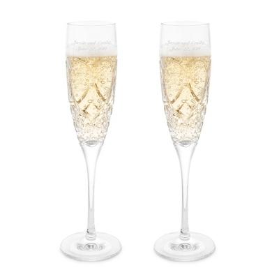 Waterford Crystal Wedding True Love Toasting Flutes - $135.00
