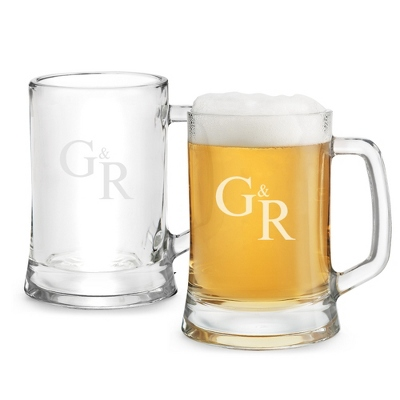 Set of Two German Tankards with Monogram - Two for $20 Sets including Monogram