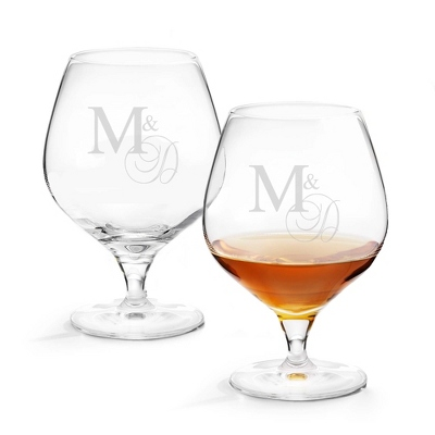 Set of Two Brandy Glasses with Monogram - Two for $20 Sets including Monogram
