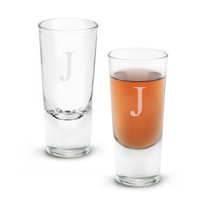 Set of Two Big Shot Glasses with Monogram - Two for $20 Sets including Monogram