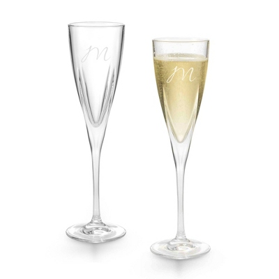 Set of Two Fusion Flutes with Monogram - Two for $20 Sets including Monogram