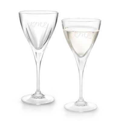 Set of Two Fusion Wine Glasses with Monogram - Two for $20 Sets including Monogram