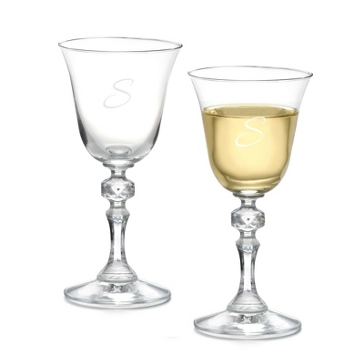 Set of Two Bell Wine Glasses with Monogram - Two for $20 Sets including Monogram