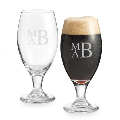 Set of Two Porter Glasses with Monogram - Two for $20 Sets including Monogram