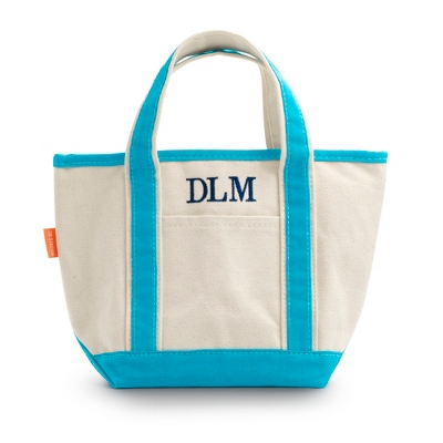 Turquoise Open Top Tote - $20.00