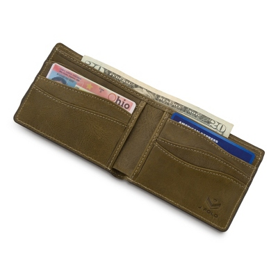 J.FOLD Olive Leather Slimfold