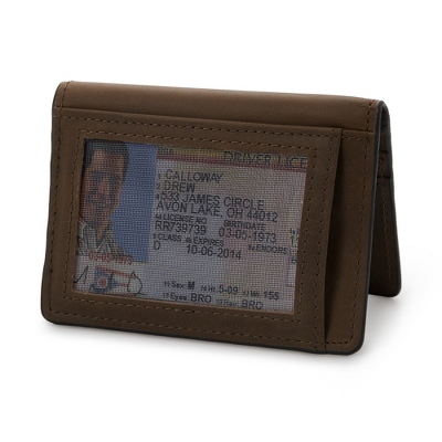 J.FOLD Brown Leather Folding Card Carrier - For Him