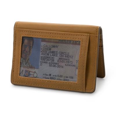 J.FOLD Cognac Leather Folding Card Carrier - For Him