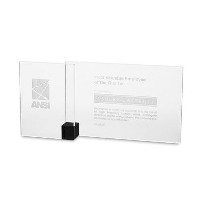 Black Shadow Etched Crystal Award - $75.00