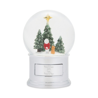 Make-A-Wish Child and Dog Snow Globe