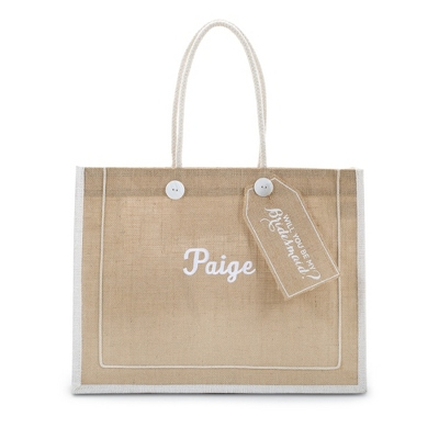 """Will You Be My Bridesmaid?"" Burlap Tote - UPC 825008140479"