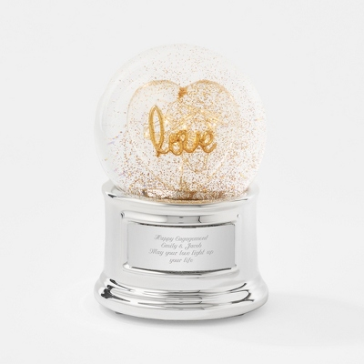 Love Light-Up Snow Globe