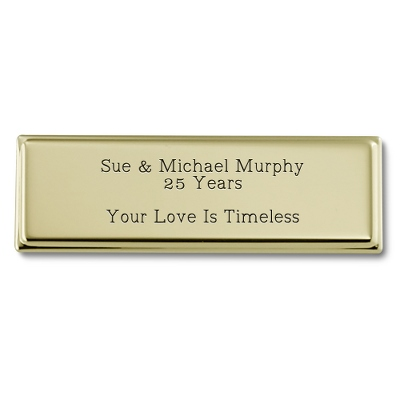 1 x 3 Gold Plated Brass Plate