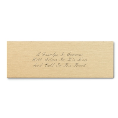 Engraved Brushed Plate