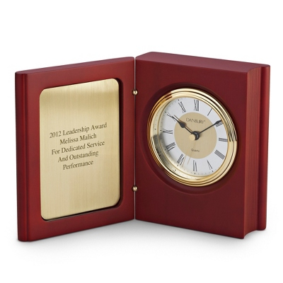 Mahogany Book Clock - Home Clocks