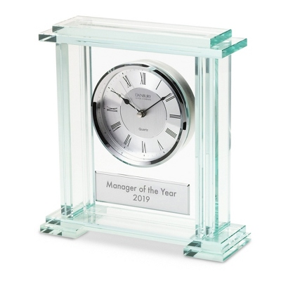 Glass Block Clock - $65.00