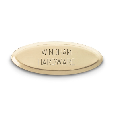 Personalized Brass Oval