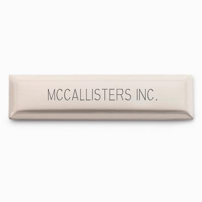 "1/2"" x 2"" Nickel Silver Decorative Plate - $7.99"