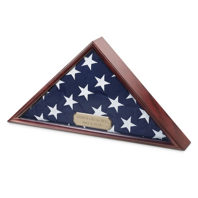 Mahogany Flag Box - Military