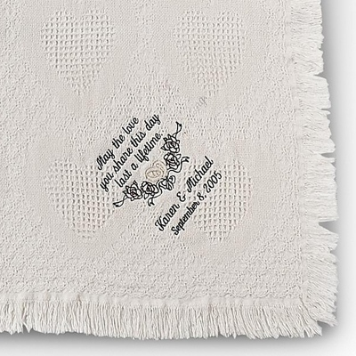 Antique White Love Throw
