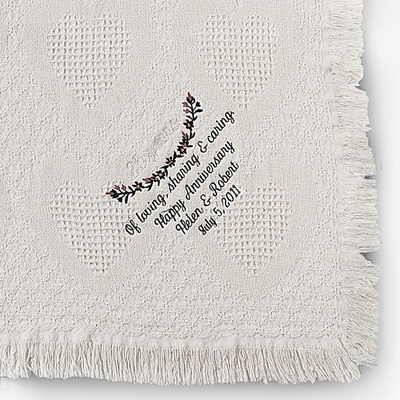 Personalized Embroidered 25th Anniversary Throw Blankets