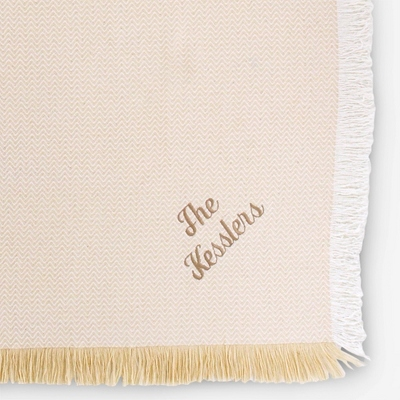 Chevron Solid Throw - Keepsakes