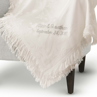 Personalized Wedding Gift Blanket