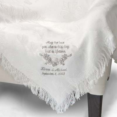 Monogrammed Wedding Throws