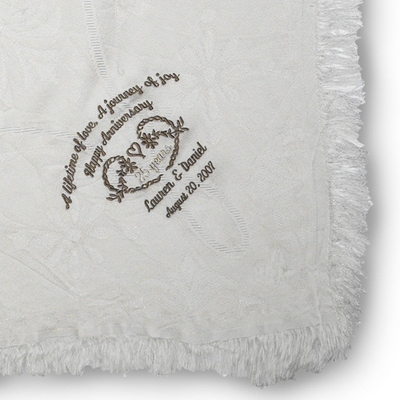 40th Wedding Anniversary Throw