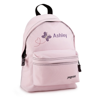 Personalized Small Pink Butterfly Backpack