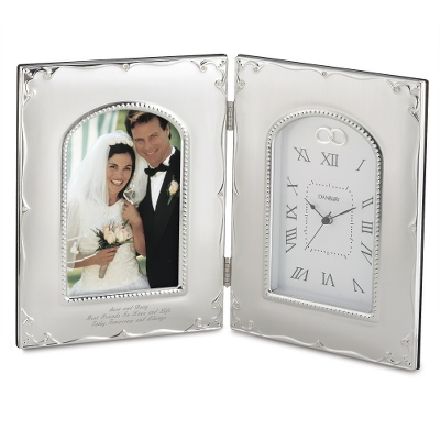 Wedding Photo Frame with Clock
