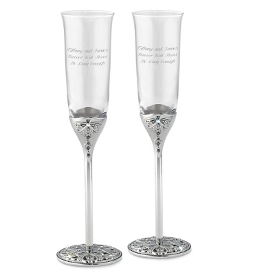 Anastasia Toasting Flutes - Romantic Wedding