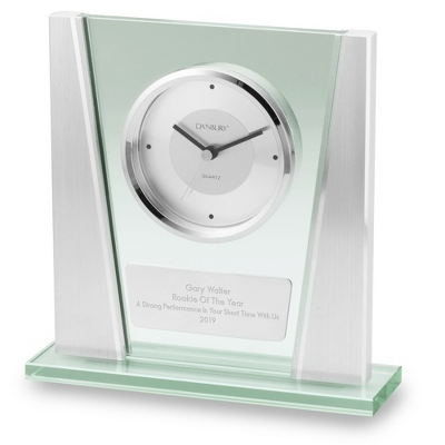 Engraved Glass Clock