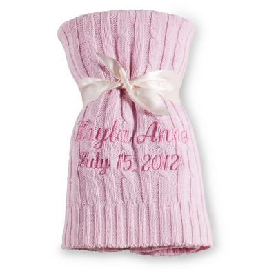 Pink Knit Blanket - Baby Gifts for Girls