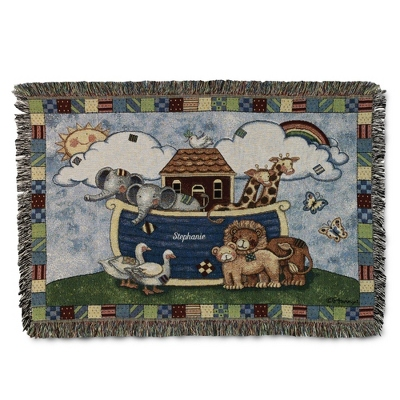 Noah's Ark Throw - Baby Gifts for Boys