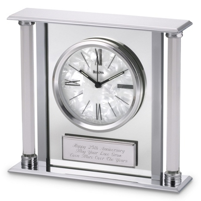 Silver Wedding Clock