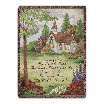 Amazing Grace Throw - Religious & Inspirational Gifts
