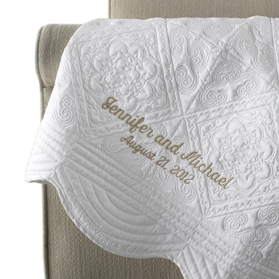 Personalized Quilted Throws - 6 products