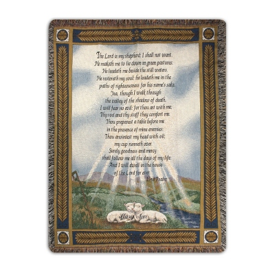 23rd Psalm Throw - Religious & Inspirational Throws