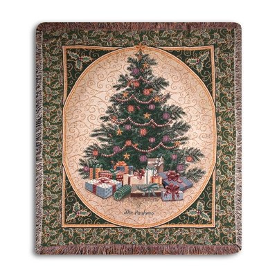 Christmas Tree Throw - Holiday Decor