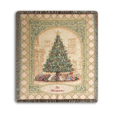 Christmas Elegance Throw - Holiday Decor