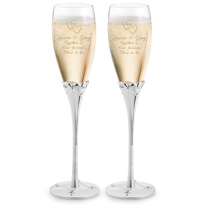 Designer Engraved Champagn Glasses