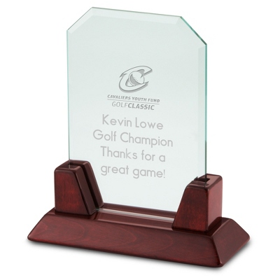 High Gloss Mahogany Rectangle Award - $45.00