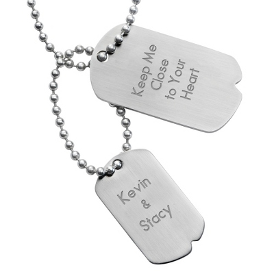 Urban Double Dog Tag- Vertical with complimentary Tri Tone Valet Box